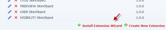 Install Extension Wizard