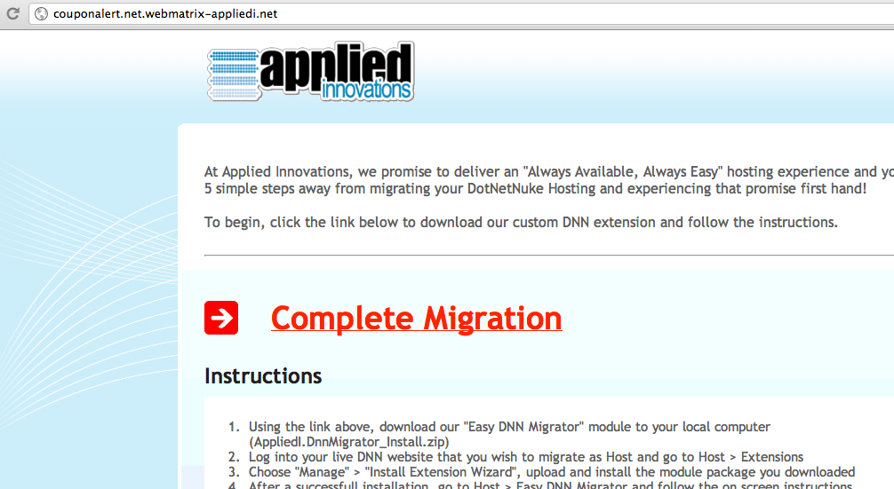 Complete DNN Migration