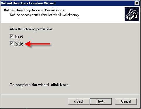 Wizard - write access