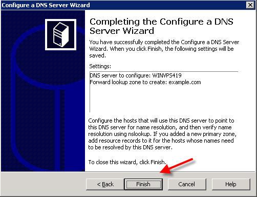 Finish DNS setup