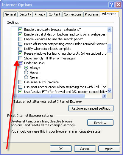 Disable friendly HTTP Errors