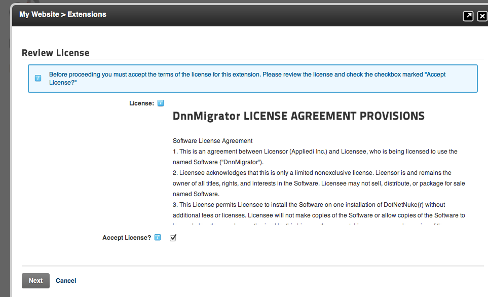 Applied Innovations Easy DNN Migrator License
