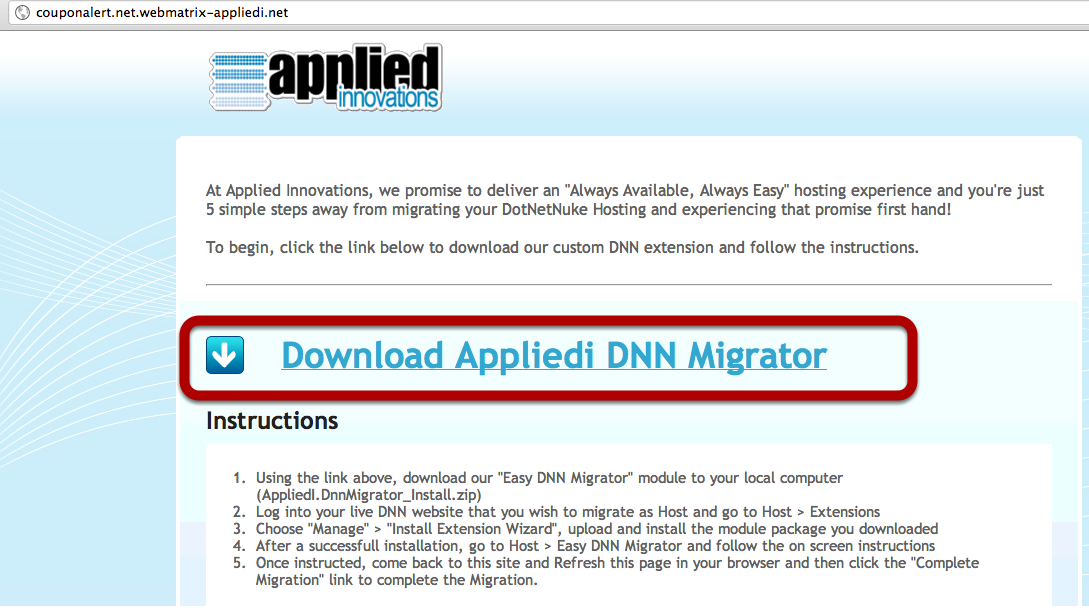 Download Applied Innovations DNN Migrator 2