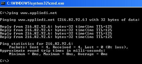 Ping a domain